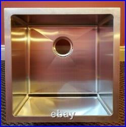 18 Stainless Steel Kitchen/Bar/Utility Sink Heavy Duty Undermount Single Bowl