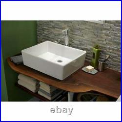 24 Heavy Duty Ceramic Single Bowl Vessel Bathroom Sink 24 x 16