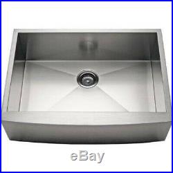 27 Stainless Steel Kitchen Farm Sink Curved Front Single Bowl with Free Gift
