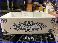 30 inch Apron Farmhouse Fireclay Decorative Kitchen Sink White CD2 Single Bowl
