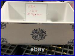 30 inch Apron Farmhouse Fireclay Decorative Kitchen Sink White CD3 Single Bowl
