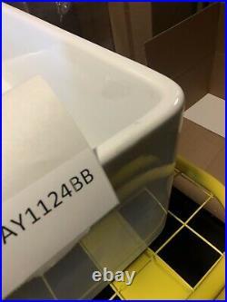 30 inch Apron Farmhouse Fireclay Decorative Kitchen Sink White Single Bowl Italy
