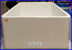 30 inch Apron Farmhouse Fireclay Kitchen Plain single Bowl Sink White RI#16.2