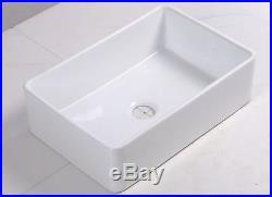 30 inch White Fireclay Farmhouse Apron Single Bowl Kitchen Sink