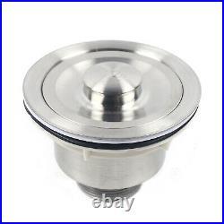 304 Stainless Steel Floormount Kitchen Sink Square Single Bowl Drainer Waste Kit