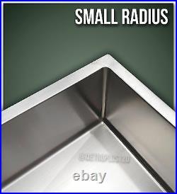 32 Single Bowl Undermount Combo Stainless Steel Kitchen Sink Small Radius