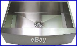33 Stainless Steel Farm Sink Curved Front Single Bowl with Free Gift