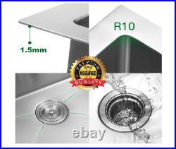 33x22x10 Drop-in Topmount Stainless Steel Kitchen Sink Deep Single Bowl 16G