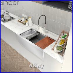 36'' 16 Gauge Single Bowl Stainless Steel Farmhouse Apron Kitchen Sink