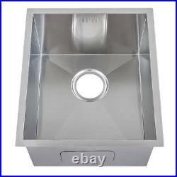 380 x 440mm Deep Single Bowl Handmade Stainless Steel Undermount Sink (DS005)
