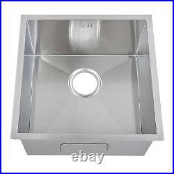 440 x 440mm Undermount Deep Single Bowl Handmade Stainless Steel Sink (DS006)