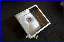 450mm Square Handmade 304 Grade Stainless Steel Single Bowl Laundry/Kitchen Sink