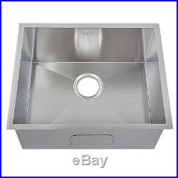 540 x 440 mm Deep Single Bowl Handmade Stainless Steel Undermount Sink (DS007)