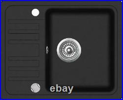 575 x 460mm Reversible Single Bowl Inset Composite Sink & Drainer (C001)
