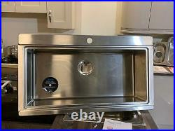 Abode Logik Single Bowl Large INSET Sink INC Waste Kit
