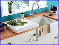 Astracast Belfast / Butler Gloss White Ceramic 1.0 Single Bowl Sink & Drainer