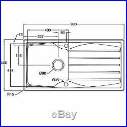 Astracast Sierra 1.0 Bowl Black Composite Kitchen Sink & Zeno Chrome Mixer Tap