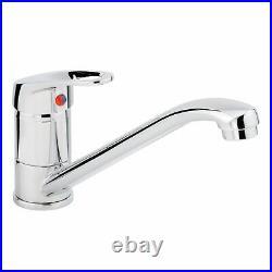 Astracast Sierra 1.0 Bowl White Composite Kitchen Sink & Zeno Chrome Mixer Tap