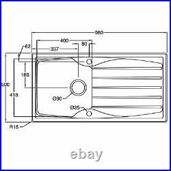 Astracast Sierra 1 Bowl Graphite Grey Composite Kitchen Sink And Zeno Mixer Tap