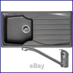 Astracast Sierra 1 Bowl Graphite Grey Kitchen Sink & Clearwater Creta Mixer Tap