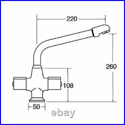 Astracast Sierra 1 Bowl Light Grey Kitchen Sink And CDA TC20 Swivel Mixer Tap