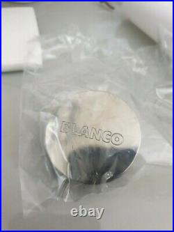 BLANCO 90mm BASKET STRAINER WASTE WITH OVERFLOW BFK022 Stainless Steel GENUINE