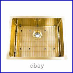 BOANN UM2318-GD Undermount Kitchen Single Bowl Sink 23 x 18 GD