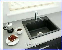 Bar Sink 1 hole Granite Composite 20 Single Bowl Metallic Black 1.0 Kitchen B56