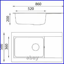 Belfry Kitchen Tenley Single Bowl Inset Kitchen Sink Grey/Brown/Blue