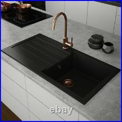 Black Kitchen Sink Comite 1.0 Bowl Single Bowl Kitchen