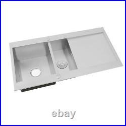 Brush Stainless Steel Kitchen Sink 1.5 Double/Single Bowl Drainer Handmade Sinks