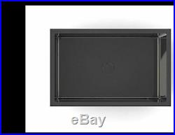 Burnished gunmetal Black stainless steel kitchen single long sink pantry trough