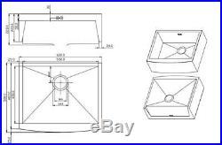 Butler Belfast Sink Single Bowl Brushed Stainless Steel Satin LARGE Sink 2320F
