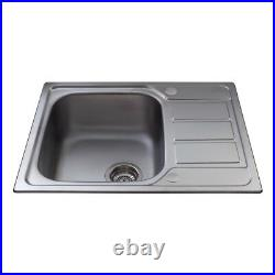 CDA Stainless Steel Kitchen Single Bowl Sink With Mini Drainer KA55SS