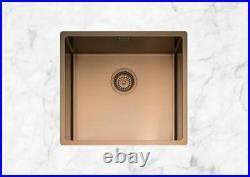 Caple MODE045/CO Undermount or Inset Copper Single Bowl Kitchen Sink