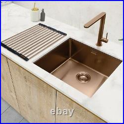 Caple Mode 45 Undermount or Inset Copper Single Bowl Kitchen Sink 450mm