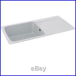 Carron Phoenix Columba 1.0 Bowl Arctic White Reversible Kitchen Sink & Waste Kit