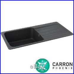 Carron Phoenix Columba 1.0 Bowl Graphite Grey Reversible Kitchen Sink & Waste