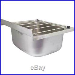 Cleaners Sink Single Bowl Mop Wall Sinks Stainless Steel Laundry Trough 45x55cm