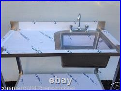Commercial Catering Kitchen Stainless steel Sink, Single bowl, Left Hand1000x600