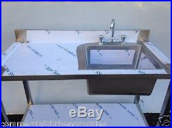 Commercial Catering Kitchen Stainless steel Sink, Single bowl, Left Hand1200x600
