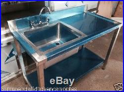 Commercial Catering Kitchen Stainless steel Sink, Single bowl, Right Hand1000x600