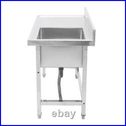 Commercial Catering Stainless Steel Kitchen Handmade Sink Single Bowl Wash Table
