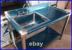 Commercial Kitchen Catering Single Bowl Sink 1m