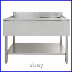 Commercial Sink Stainless Steel Catering Kitchen Single Bowl 1.0 Unit LH Drainer