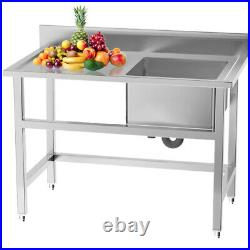 Commercial Sink Stainless Steel Catering Kitchen Single/Double Bowl Unit Drainer
