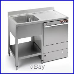 Commercial Stainless Steel Right Hand Drainer Single Bowl Dishwasher Sink 1200mm