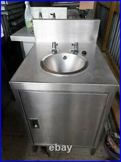 Commercial hand basin Kitchen unit Sink Catering Single Bowl