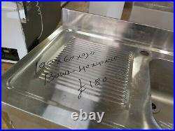 Commercial stainless steel single bowl sink for small kitchen 100x60x90 cm used