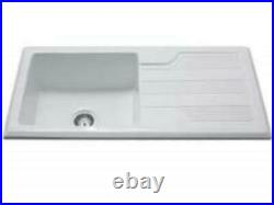 Coniston 1.0 Ceramic Single Bowl Sink with reversible drainer